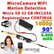 Camera spy spia micro cam wifi motion detection 1080p lente di sorveglianza HD