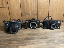 Vintage Minolta Camara Lot Parts or Repair Maxxum 400si 7000 AF-Tele