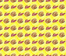 1 yard Eggo Waffle Sunshine Fabric