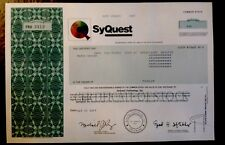 RARE! -SYQUEST TECHNOLOGY INC. STOCK CERTIFICATE-HARD TO FIND - NICE CONDITION!