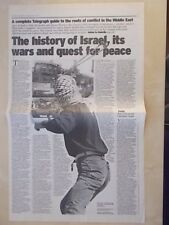VINTAGE NEWSPAPER DAILY TELEGRAPH MAY 1st 2002 CONFLICT IN THE MIDDLE EAST