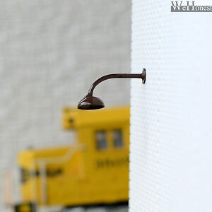 10 x OO / HO gauge LED wall lights Model street lamps Railway lamp posts #R45