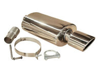 """5"""" x 3.25"""" STAINLESS STEEL SPORTS PERFORMANCE EXHAUST MUFFLER BACK BOX LMO 009"""
