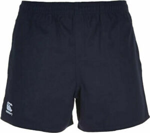 CANTERBURY MEN'S PROFESSIONAL COTTON RUGBY SHORTS NAVY MEDIUM NEW RRP £17