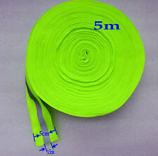 5 M  Sew On Green Gray Reflective Tape Strip Warning Safety Trim Fabric 5cm