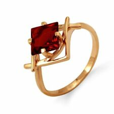 585/14 Ct Rose Gold Ring with Garnet