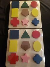 Shape Sorter Boards Real Wood Toys Two Sets