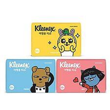 Kakao Friends Kleenex Travel Tissue Korean Hygiene 50Sheet 3 / 6/ 9/ 12/15 packs
