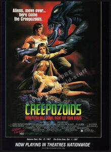CREEPOZOIDS__Original 1987 Trade print AD / ADVERT__Linnea Quigley__Charles Band