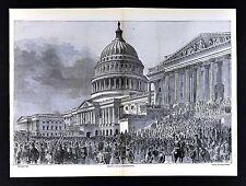 Harper's Civil War Print - President Lincoln Innauguration US Capitol Washington