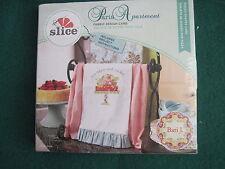Slice Fabric Design Card #37235 - PARIS APARTMENT  pieced shapes card - NEW