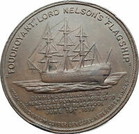 1897 ENGLAND UK Admiral Horatio Nelson British Genuine Medal Token Coin i80567