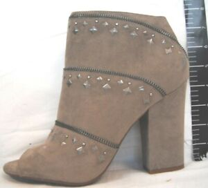 Jessica Simpson Size 9.5  Taupe Ankle Booties New Womens Shoes