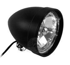 """Black 5 ¾"""" Tri Bar Cobra Billet Headlight Light H4 Harley Bobber Chopper Custom"""