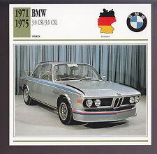 1971-1975 BMW 3.0 CSI/3.0 CSL (3) Car Photo Spec Sheet Info CARD 1972 1973 1974