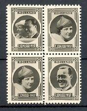 NEDERLAND 1937 ca  4 x  FOTO STAMPS  JULIANA BERNARD   THICK PAPER  PRACHT @2