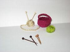 "3  pair Handmade Mini Knitting Needles 1 1/2""long  Great for Dollhouse, Crafting"