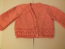 HAND Knitted Cardigan Bambino 0-3 mesi