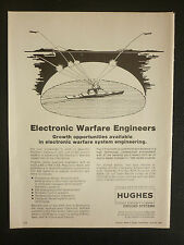 6/1982 PUB HUGHES GROUND SYSTEMS RADAR ELECTRONIC WARFARE ENGINEERS HARDWARE AD