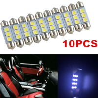10X White 36MM 3 LED 5050 SMD Festoon Dome Car Light Interior Lamp Bulb 12V Best