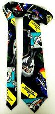 Nicole Miller Mens Necktie Novelty Silk Mackenzie Sentinel Funds Vintage 1990s