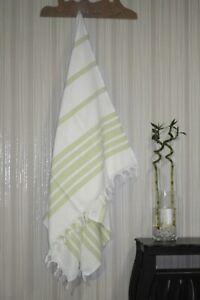 TROY Authentic Turkish Peshtemal Fouta Bold Stripe Spa, Gym, Bath Beach Towel