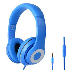 RockPapa DJ adjustable Headphones Headsets Blue for VR TV iPod iPhone iPad MP3/4
