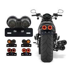 DRL License Plate Light Brake Tail Turn Signal Lamp Bobber Cafe Racer ATV Choppe