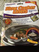 Cocina LENTA 2x SEALAPACK Bolsas desechable los trazadores de líneas 5 Pk fácil /& Clean Cocina
