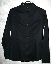 Women's G-STAR RAW Core Lux Shirt WMN L/S Long Sleeve Black Color Stretch Size S