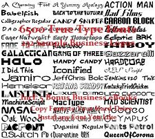 CD- Thousands of True Type Fonts - eBooks (Resell Rights)