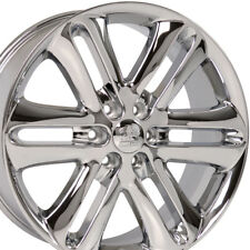 """22x9 Chrome F-150 Style Wheels Set of 4 22"""" Rims Fit Ford® F150 Expedition"""