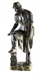 Forgeron Bronze signé Ernst BECK (1879-1941) Autriche Viennese Kuenstlerhaus