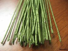 40 Green Florist Stub Stem Floral Wires #30 GAUGE