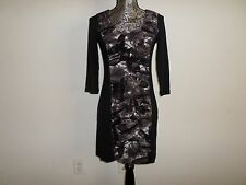 NWT $98 VIVIENNE TAM PETITE BLACK 3/4 SLEEVE BODYCON DRESS....PS