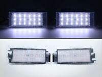 LED License Plate Lights For Smart Car Fortwo 453 3rd Gen - White CAN-bus 18-SMD