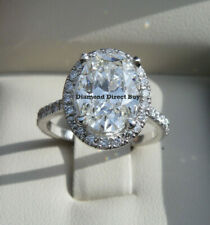 Oval Halo Engagement ring 3.27 carat Platinum Gia Certified