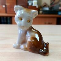 Soviet USSR Vintage Old Original Porcelain Vintage Figurine Young Lion Lionet