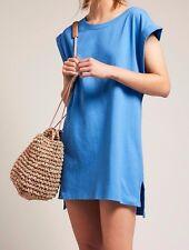 People Blue Sleeveless Shift Dress XS