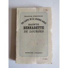 SAINTE BERNADETTE de LOURDES, François Duhourcau, 1937