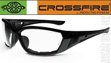 Crossfire 710 Clear Anti Fog Lens Gray Safety Glasses Shooting Foam Padded Z87+