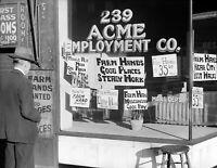 "1939 Employment Agency, Minneapolis, MN #2 Vintage Old Photo 8.5"" x 11"" Reprint"