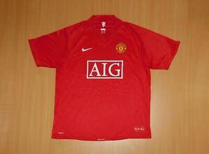 * MANCHESTER UNITED 2007 2008 shirt Nike L LARGE jersey camiseta soccer football