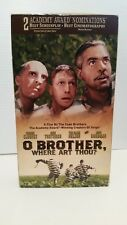 O BROTHER WHERE ART THOU MOVIE VHS FILM VIDEO TAPE CASSETTE GEORGE CLOONEY