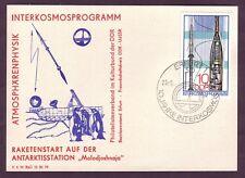Beleg Erfurt Sonderstempel 10 Jahre Interkosmos Zudruck Raketenstart Antarktis