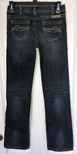 """COWGIRL TUFF """"Dark Don't Fence Me In"""" Girl's Bootcut Jeans 13 Excellent Cond!"""