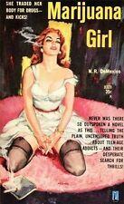Marijuana Girl Vintage 1950's Pulp Novel Drugs A4 Poster Reprint