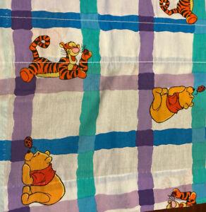 """Vintage Disney Winnie the Pooh Window Valance 80"""" x 17"""" Ladybug  Blue Purple"""
