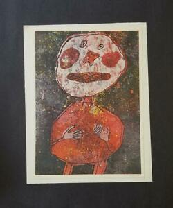 "Jean Dubuffet  ""Person in Red""  Mounted Color Lithograph 1973 PlateSigned"