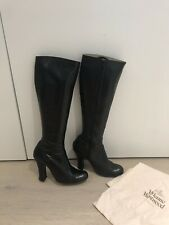 Vivienne Westwood Black Leather Knee High Boots Size 6 UK 39 Great Condition!